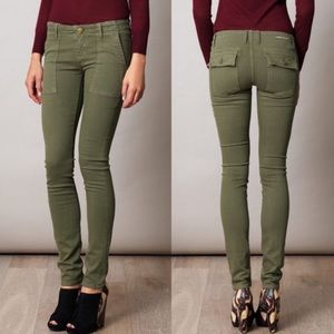 Current Elliott The Combat Skinny Army Green Jeans